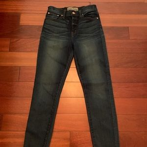 J Crew Point Sur Denim Skinny High Waist